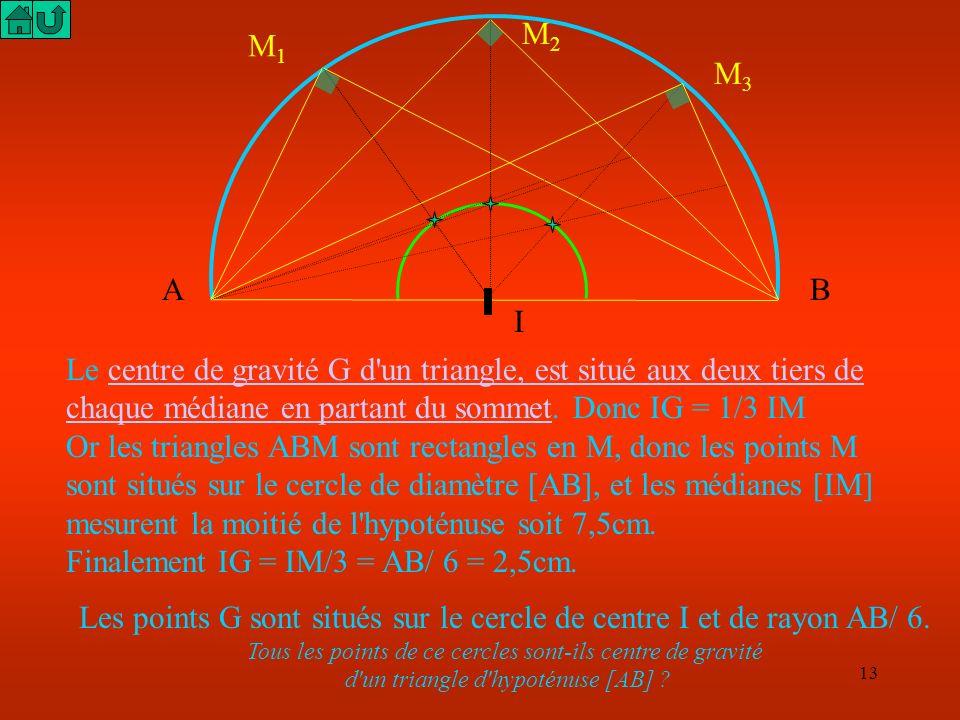 d un triangle d hypoténuse [AB]